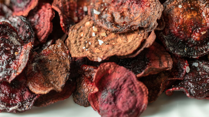 pile of beet chips