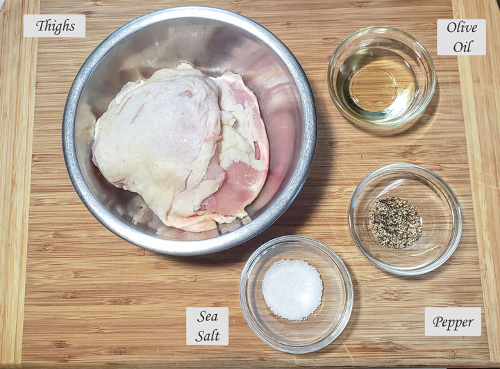 ingredients used to make air fried chicken.
