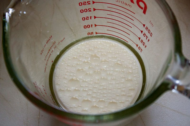 milk in the same glass measuring cup