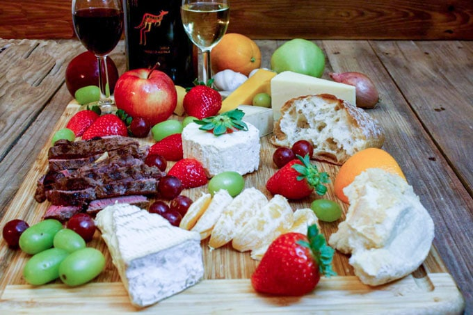 how to serve wine and cheese