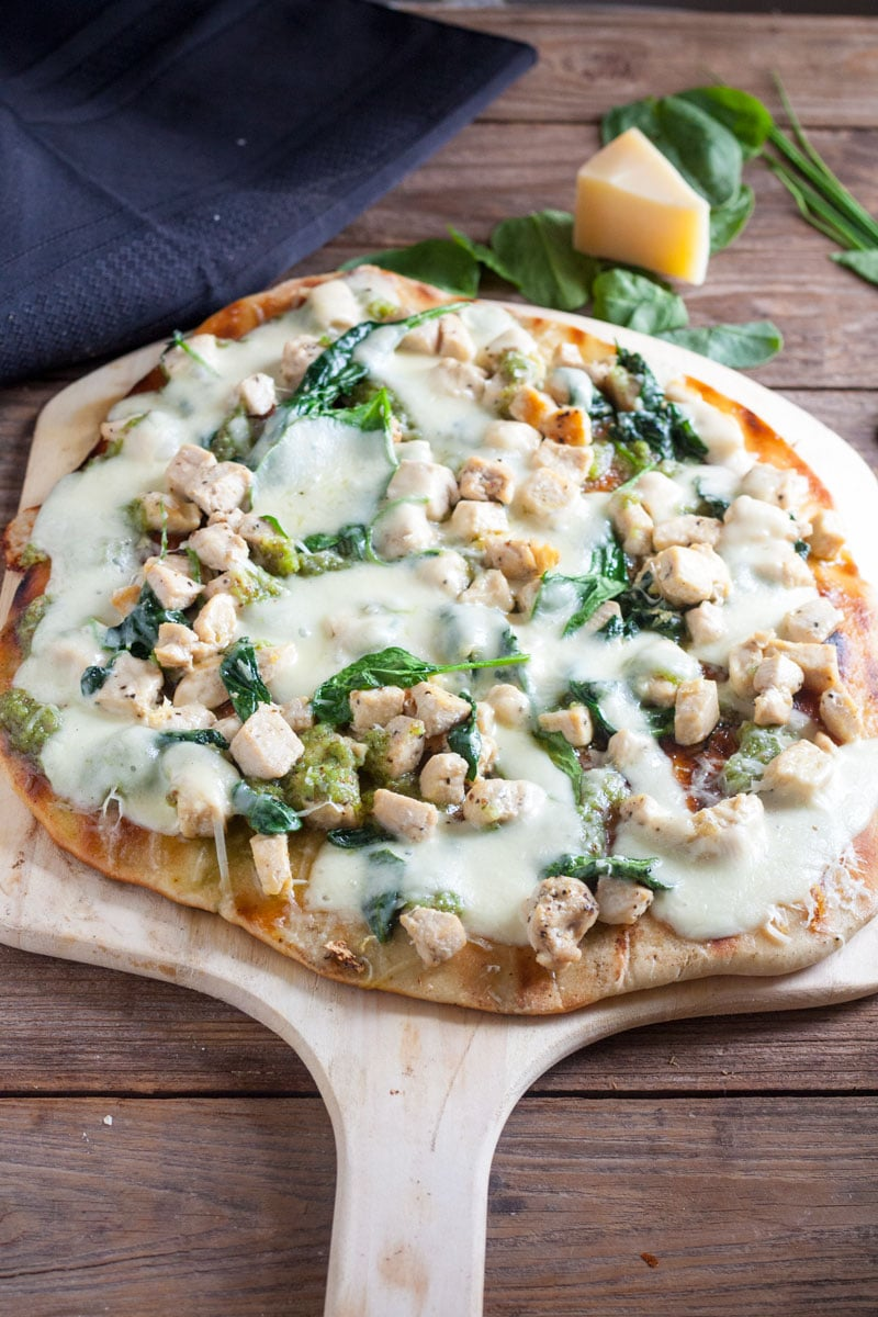 chunky Chicken grilled Pizza