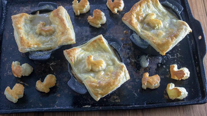 Leftover Turkey Chicken Pot Pies Binky S Culinary Carnival