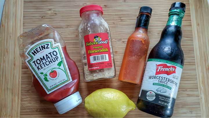 Ingredients for cocktail sauce