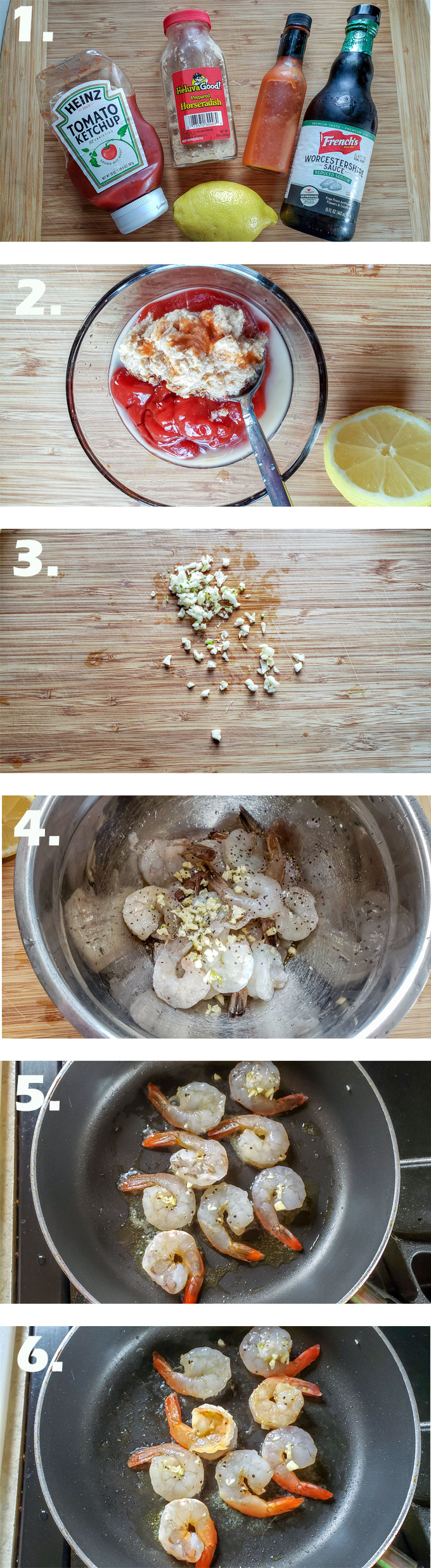 how to make cocktail sauce process photo collage