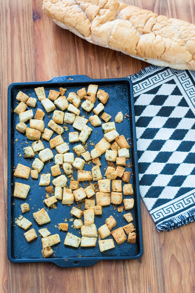 Homemade Croutons form Stale Bread