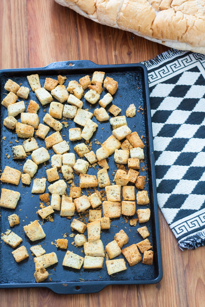 Homemade Croutons form Stale Bread 2