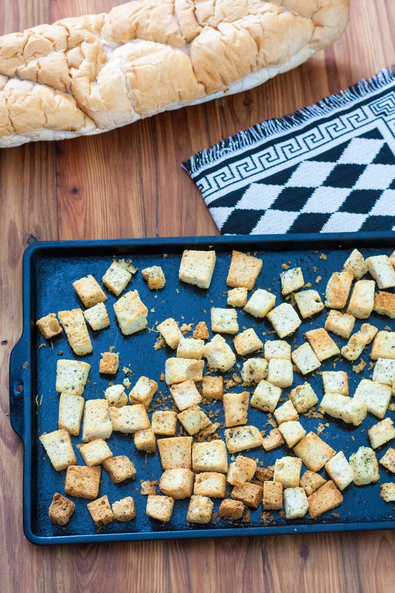 Homemade Croutons form Stale Bread 3