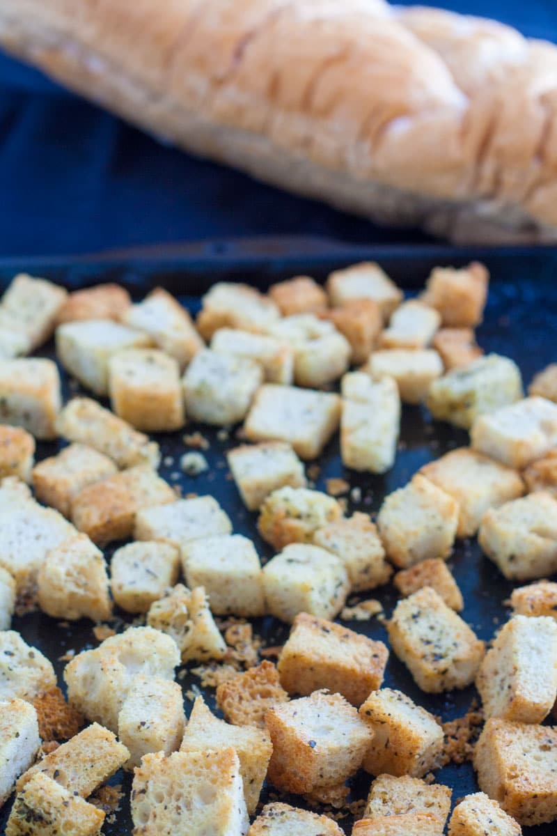 Homemade Croutons form Stale Bread 4