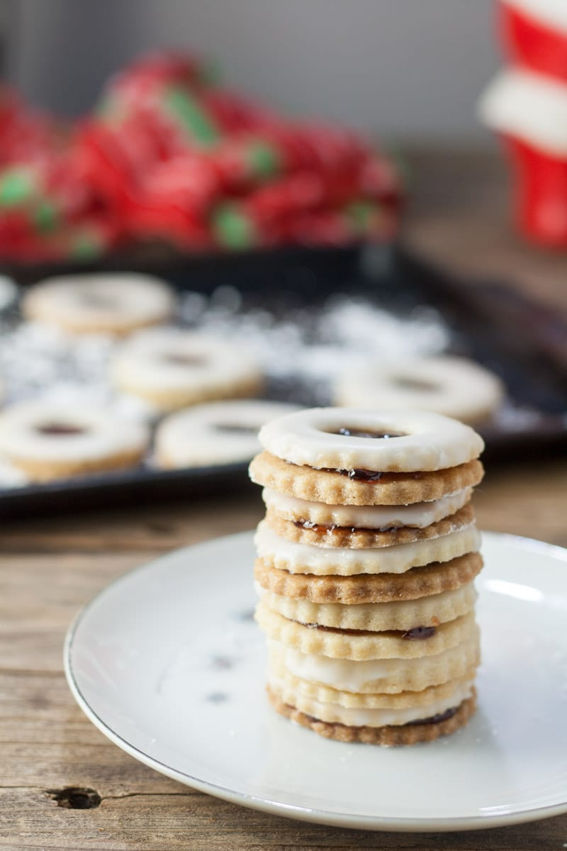 Stacked cookies.