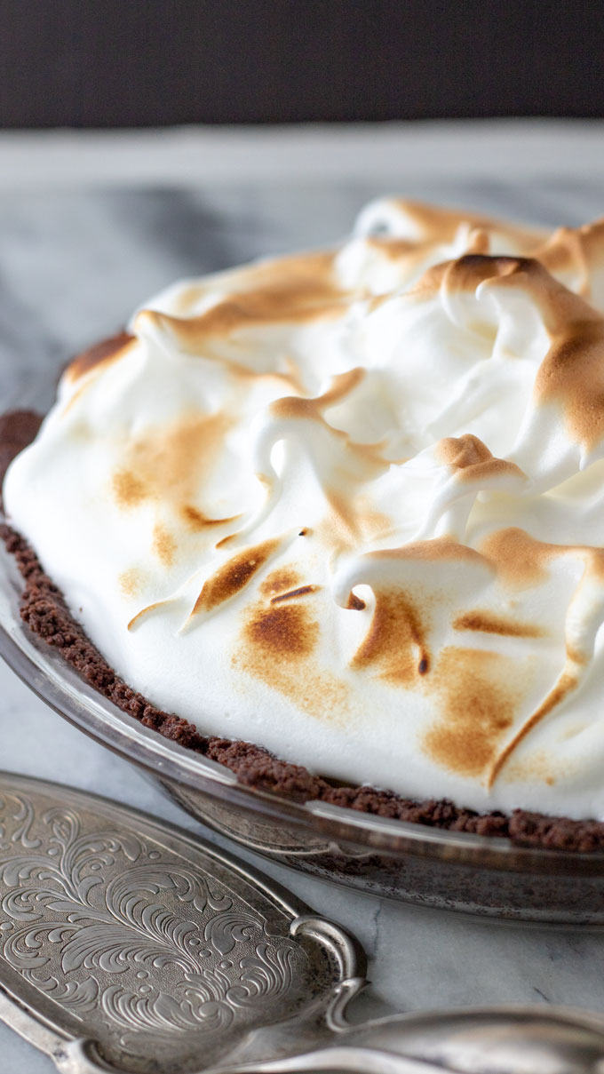 Close up of meringue.