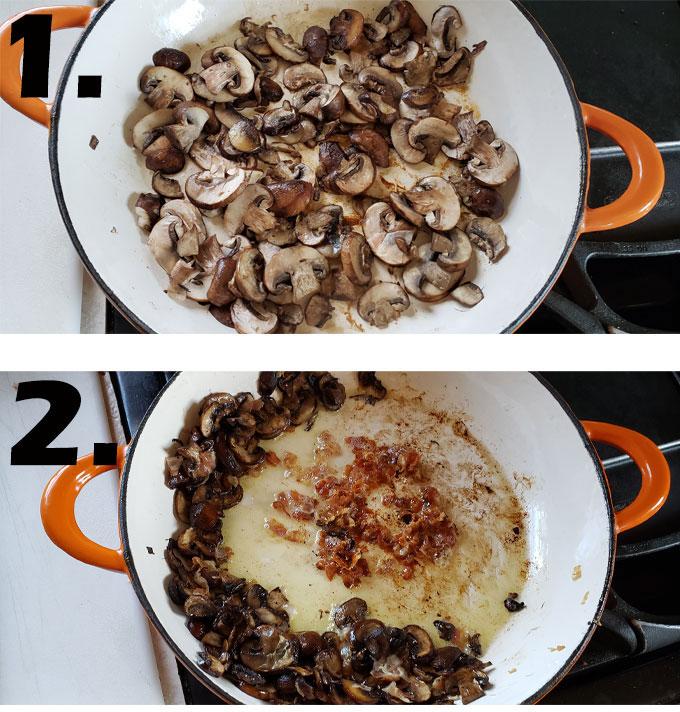 mushroom process photo collage