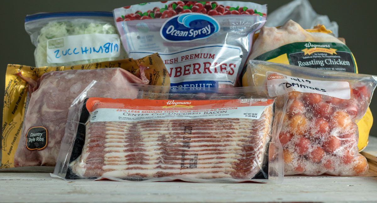 Group of frozen items to keep in your pantry.