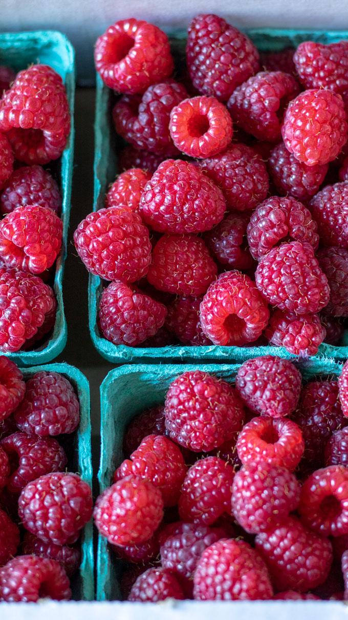 Raspberry pints.