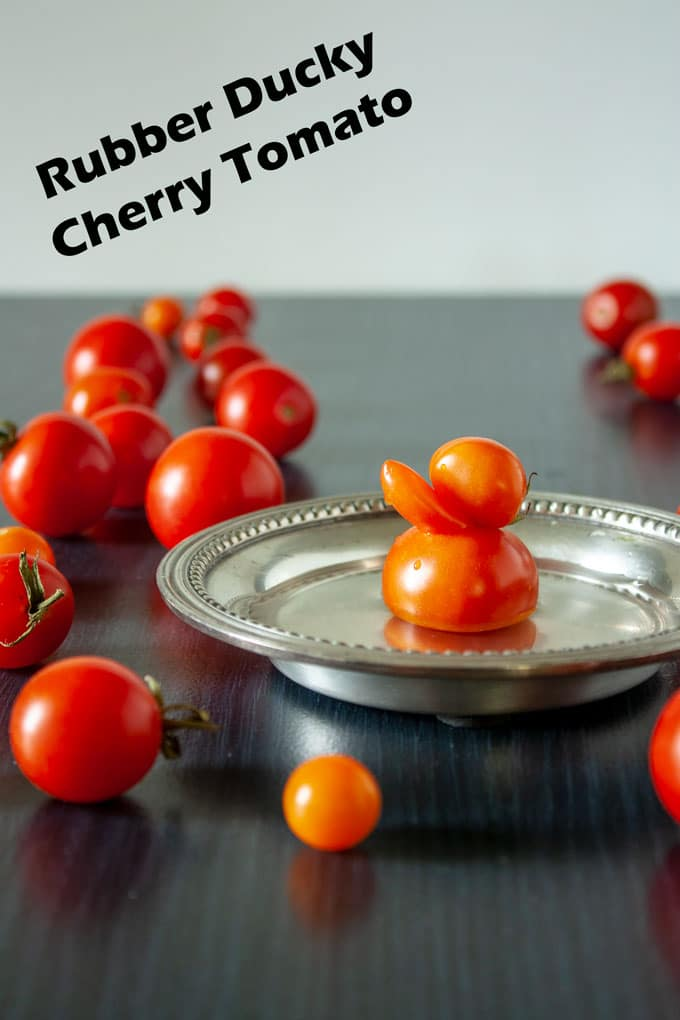 cherry tomato that looks like a duck