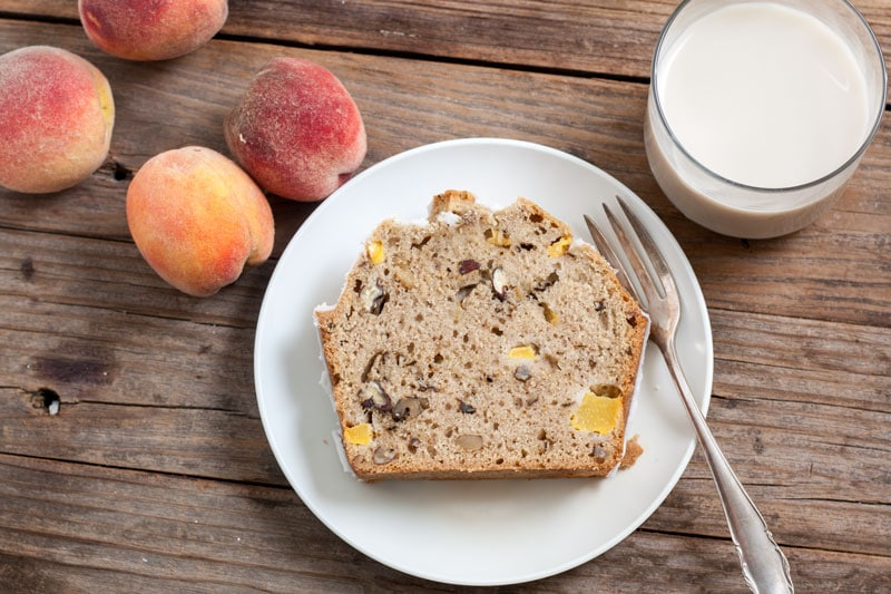 Silk® Peach Pecan Quick Bread 8