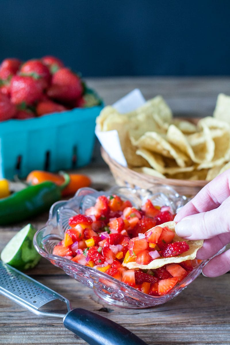 strawberry salsa for easy 4th of july recipe