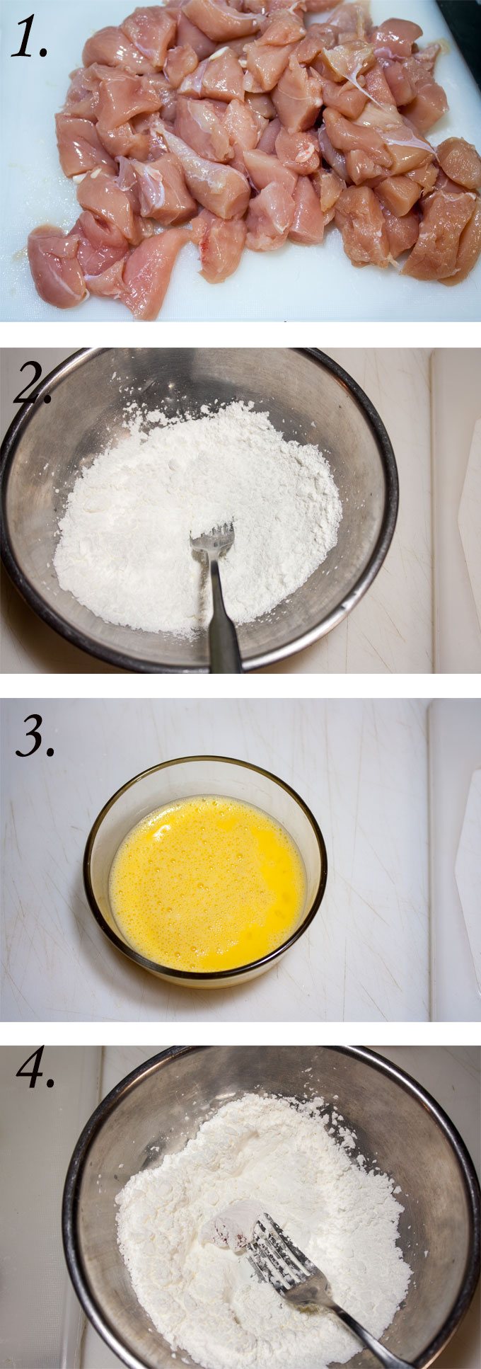 sweet and sour chicken recipe process photographs
