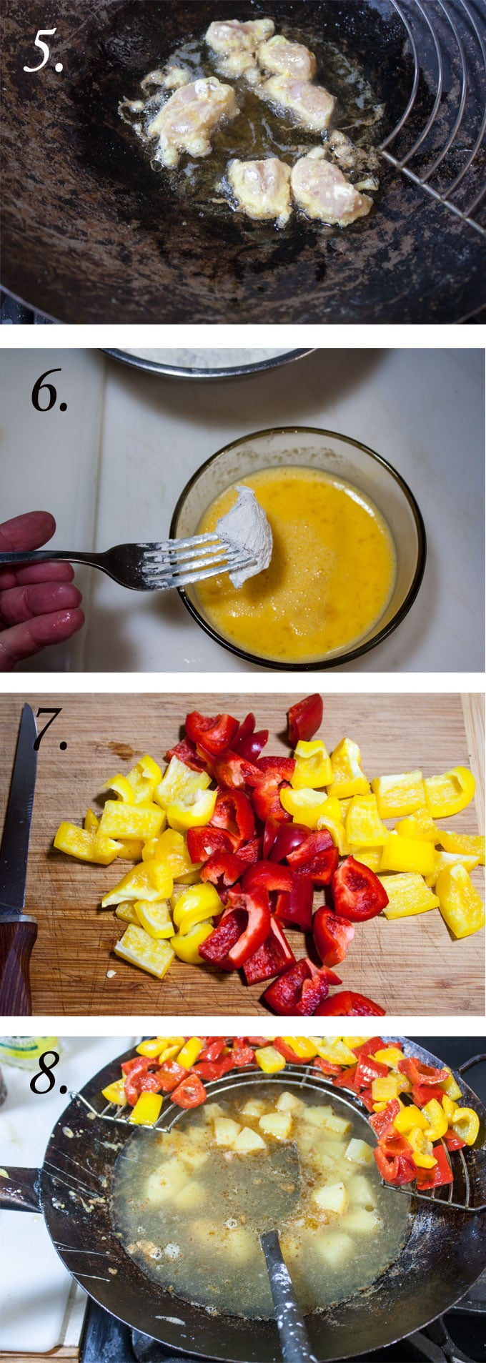 sweet and sour chicken recipe process photographs2