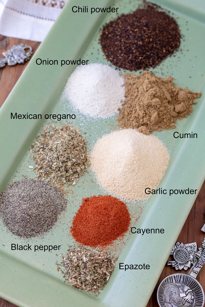 ingredient list for taco seasoning