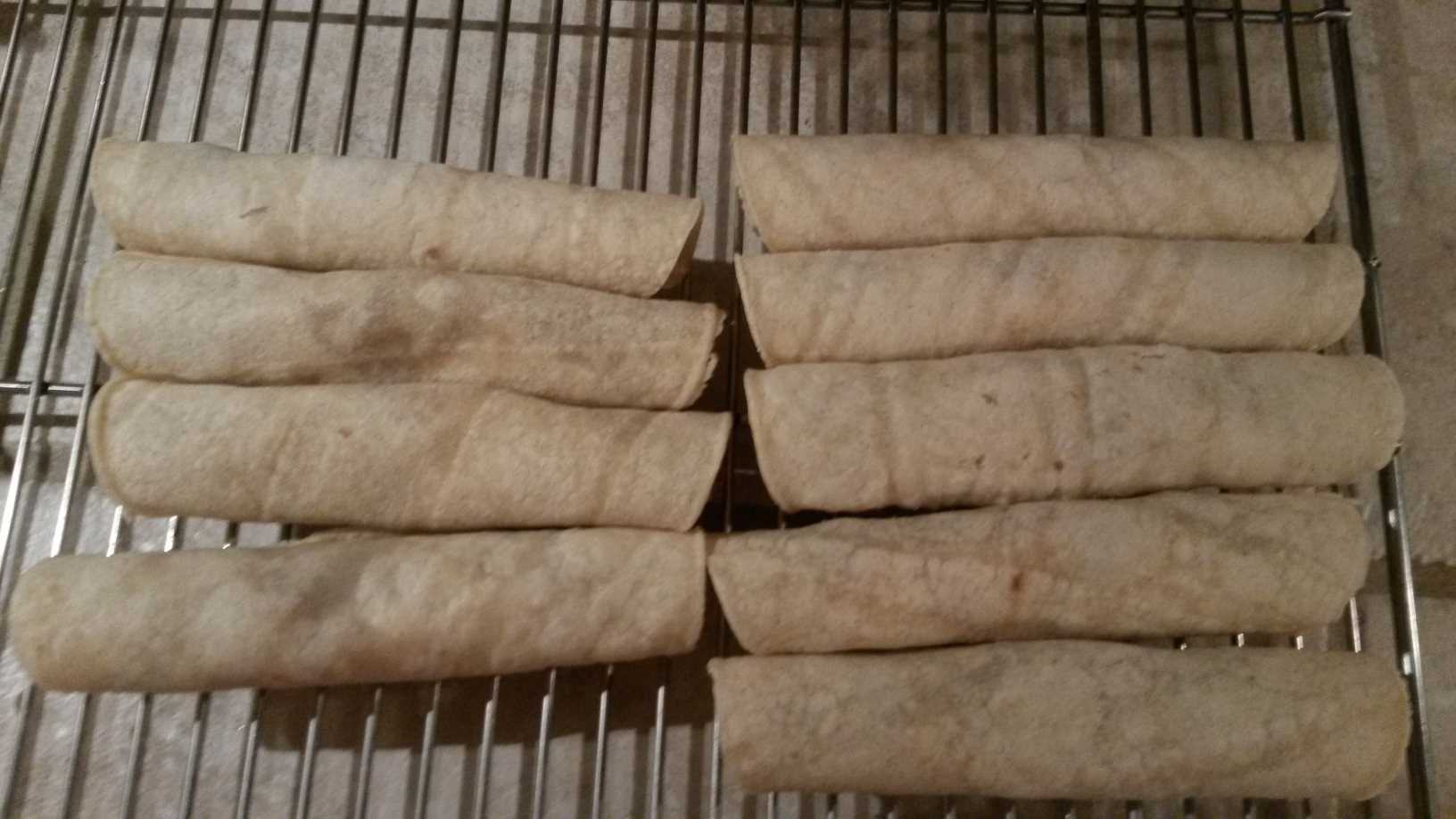 roll taquitos tightly