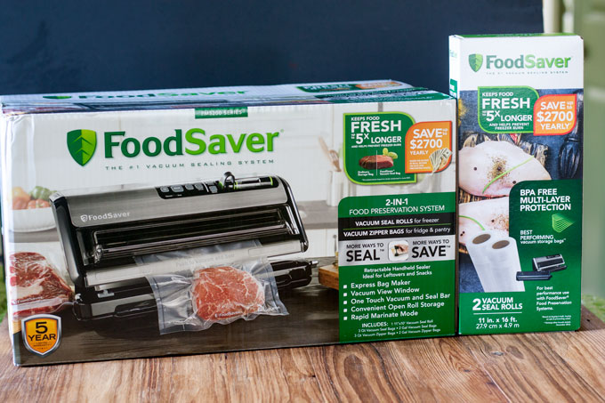 Foodsaver and vacuum bags in boxes