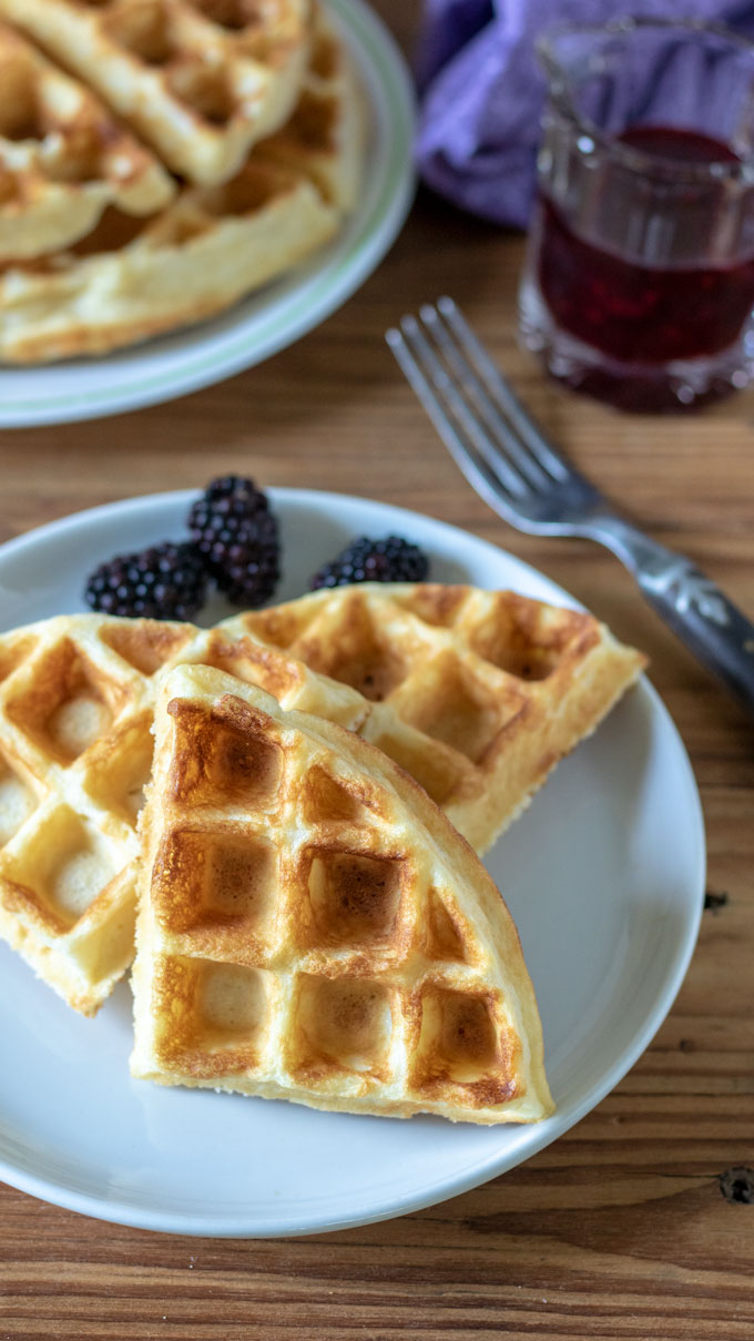 waffles scattered on white plate