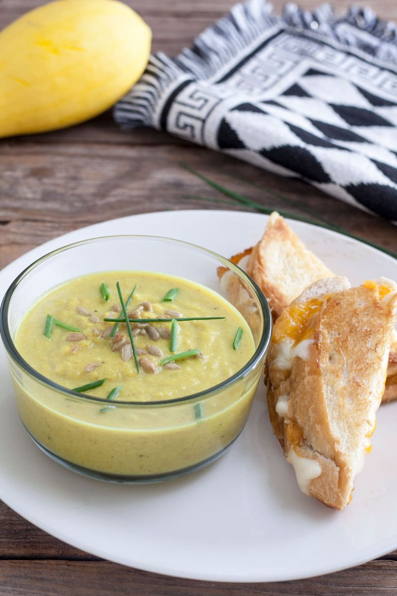 Curried Yellow Squash Soup4