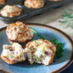 Cheesy Herbed Bacon Muffins