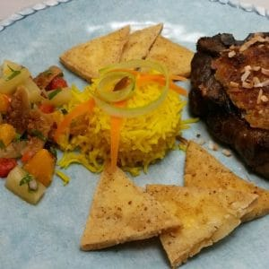 Grilled Lamb Chops with Coconut Fig Crust