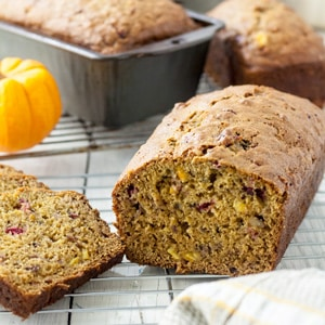 Orange Cranberry Pumpkin Quick Bread