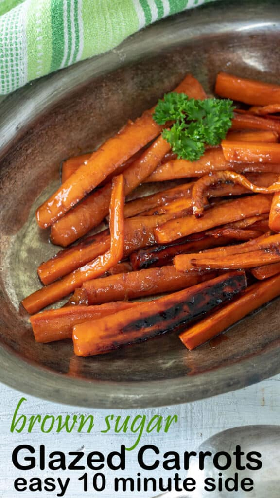 Glazed carrots Pinterest image