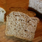 Rye Bread for the Bread Machine on a bamboo cutting board
