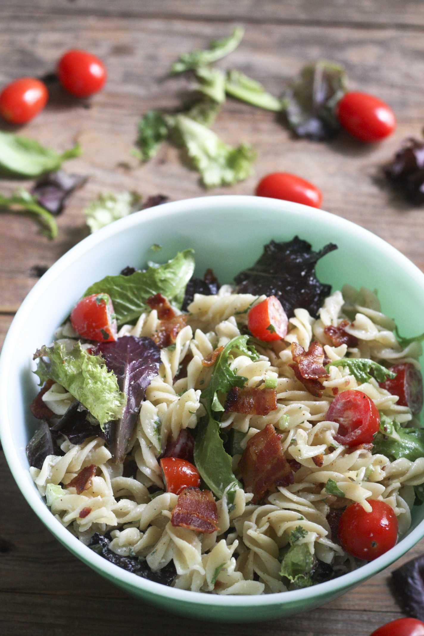 Blt Pasta Salad Bacon Lettuce And Tomato Pasta Salad