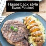 Hasselback sweet potatoes Pinterest image