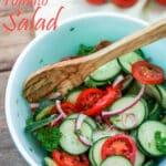Tomato cucumber salad Pinterest image