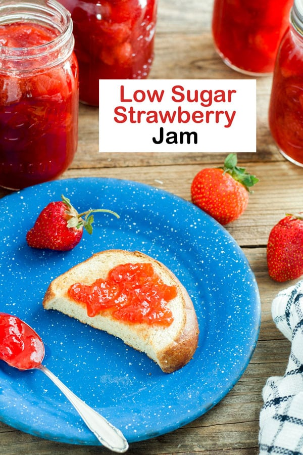 strawberry jam Pinterest image
