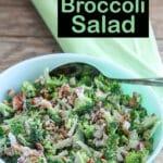 Broccoli Salad Pinterest image