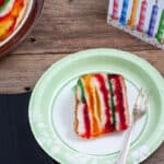 Rainbow Cake, Light and Fruity Jello Cake!