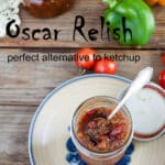 how to can Oscar relish Pinterest image with text overlay