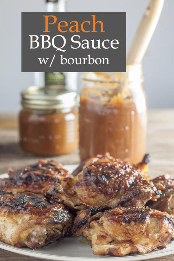 Peach Bourbon bbq sauce Pinterest image