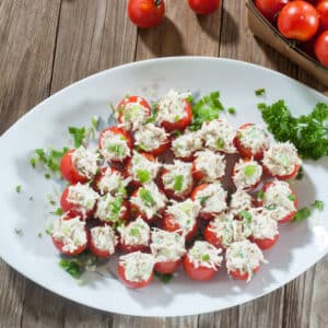 Chicken Stuffed Tomato Bites