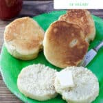 English muffin Pinterest image with text overlay.
