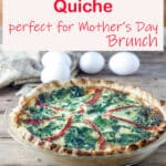 bacon spinach quiche Pinterest image
