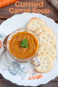 Carrot soup Pinterest image