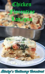 Chicken Florentine Lasagna Pin