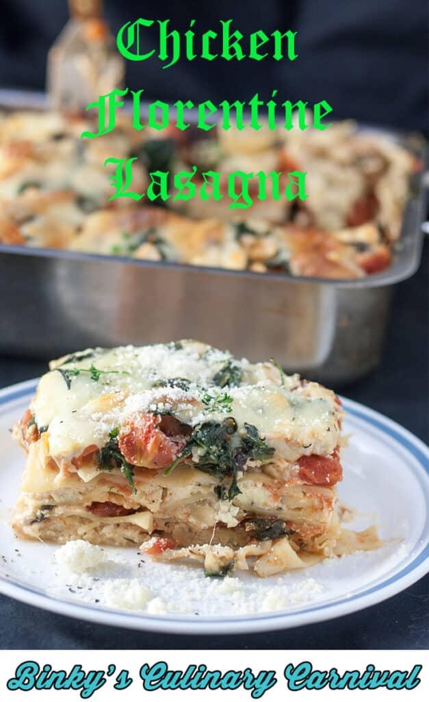Chicken Florentine Lasagna Pin