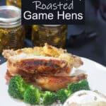 Cornish Game Hens Pinterest image