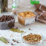 Pickling spice Pinterest image with text overlay.