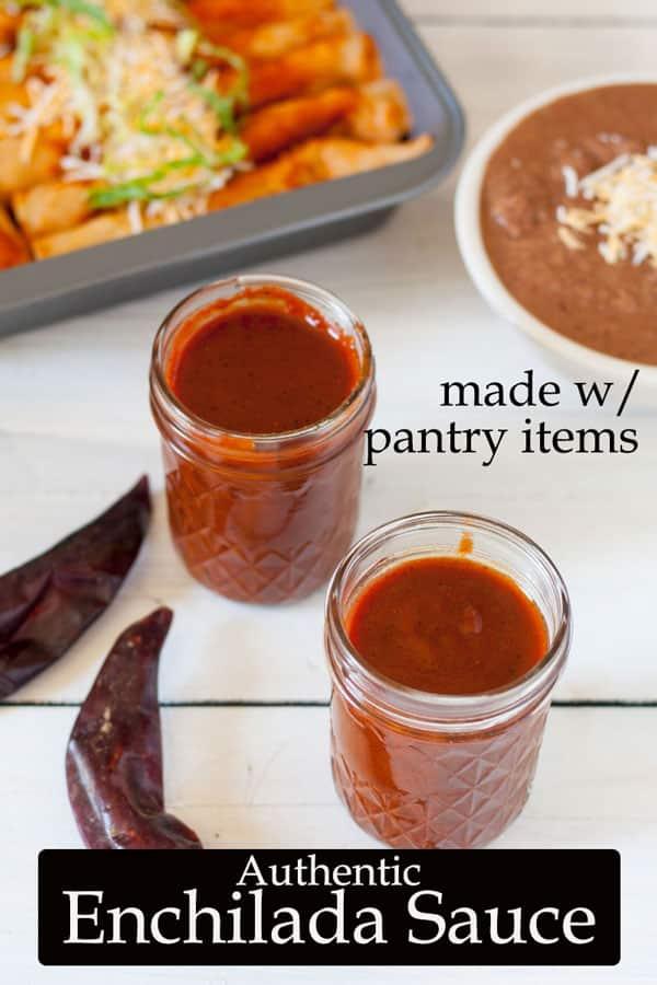 Enchilada Sauce Pinterest image