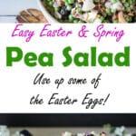 Pea salad Pinterest image